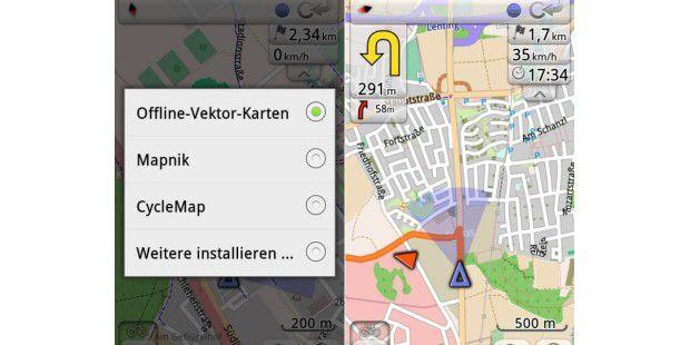 Mit OsmAnd können Sie notfalls auch ohneInternet-Verbindung navigieren