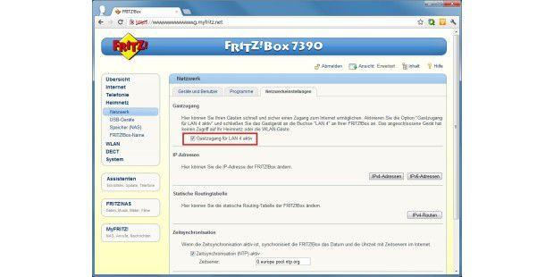 Fritz!OS 5.21 bietet jetzt auch einen Gastzugang überLAN-Kabel.