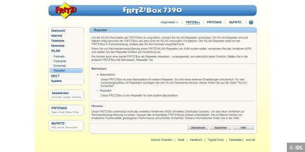 fritzbox repeater 310 installieren