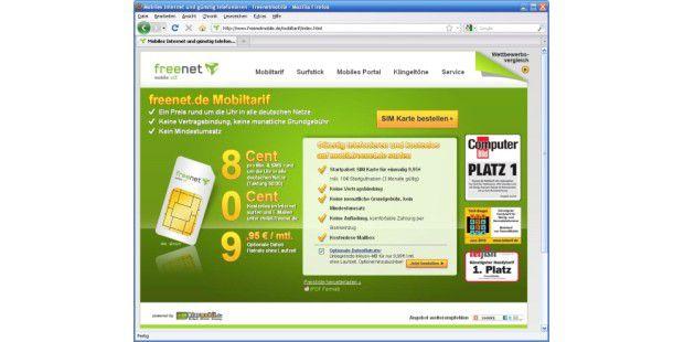 Freenet.de Mobiltarif mit Datenflatrate