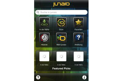 """iPhone-App """"junaio Augmented Reality Browser"""""""