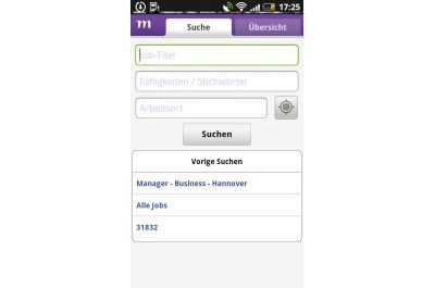 "Android-App ""Monster Jobsuche"""