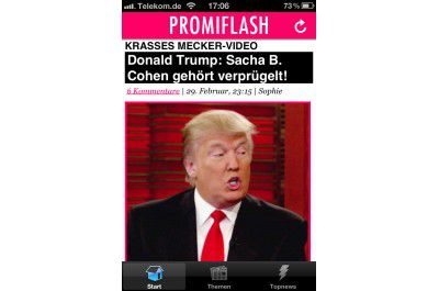 "iPhone-App ""Promiflash"""