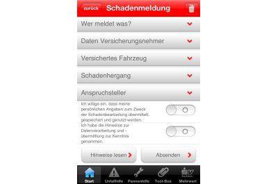 "iPhone-App ""Soforthilfe"""