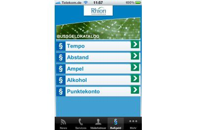 "iPhone-App ""Rhion"""