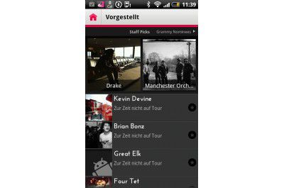 "Android-App ""Gigbeat"""