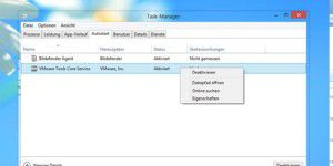 Autostart-Manager in Windows 8 wiederfinden