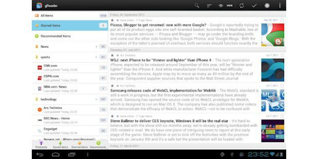 gReader (Google Reader