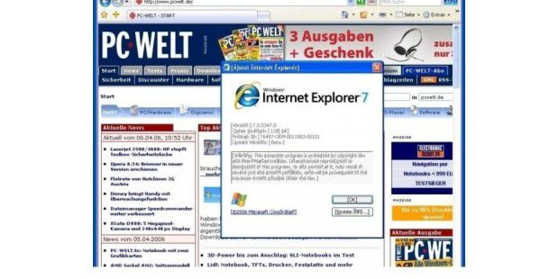 Internet Explorer 7 (deutsch, Pre-Release)