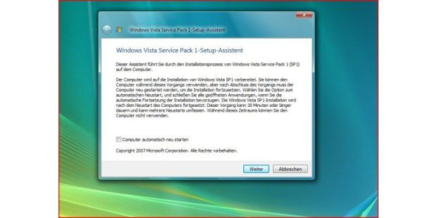Windows Vista SP1 deutsch (Beta)