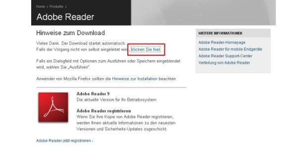 Tipp 1: Adobe Reader ohne Installer