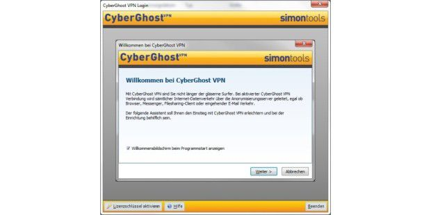 Cyberghost VPN 2010 - Bild 01