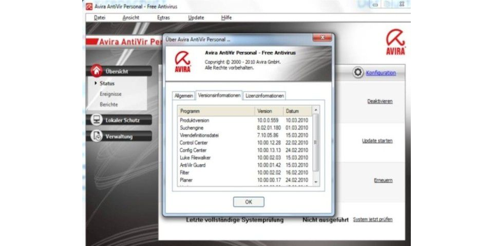 Avira Antivir Personal 10 Free Antivirus 10.0.561