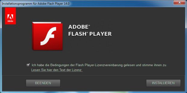 Freeware: Browser-Plugin: Adobe Flash Player
