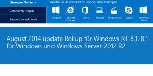 Microsoft Windows 8.1 August-Update