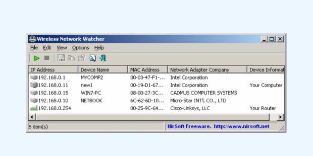 Wireless Network Watcher - Download