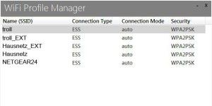 WLAN-Profile optimal in Windows 8.1 verwalten