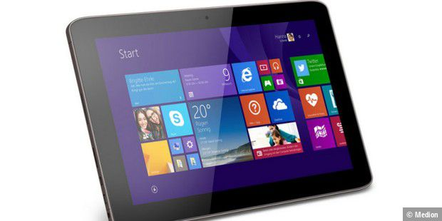 Medion Akoya E1233T: 299-Euro-Tablet mit Windows 8.1 Update und Office 365 Personal (1-Jahres-Lizenz)