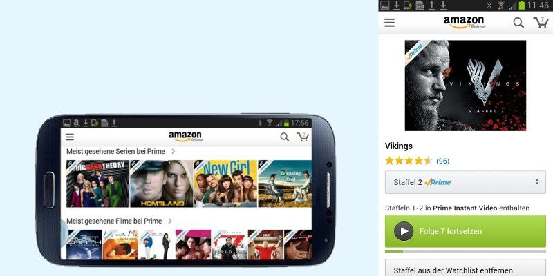 amazon prime instant video ab sofort auf android verf gbar pc welt. Black Bedroom Furniture Sets. Home Design Ideas