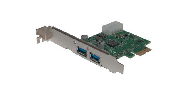 USB 3.0 beim PC nachrüsten: mit einerPCI-Express-Controller-Karte
