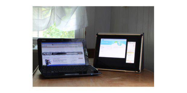 Browser und IM-Client gleichzeitig imVordergrund