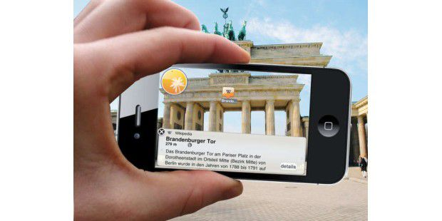 Augmented Reality in Aktion auf dem iPhone.