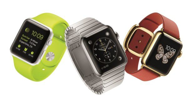 Die drei Modelle der Apple Watch: Sport, Watch, Edition