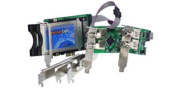 Lecker: die TV-Tuner-Lösung von Digital Devices, bestehendaus Octopus Twin CI mit DuoFlex S2 und Cine C/T.