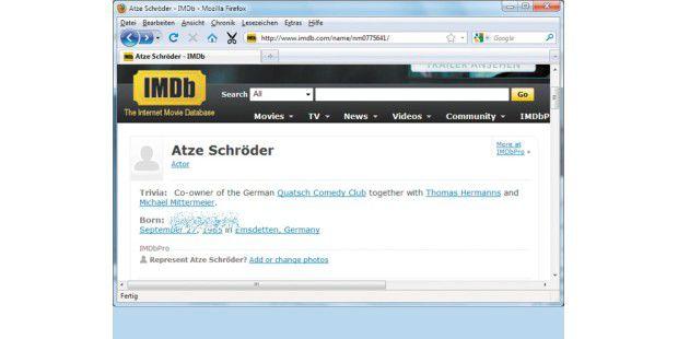 Für den Schauspieler Atze Schröder hat es sich nichtgelohnt, die Veröffentlichung seines bürgerlichen Namensgerichtlich verbieten zu lassen. Seitdem interessieren sich umsomehr Leute dafür, wie Suchmaschinen beweisen.