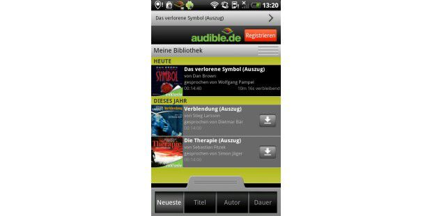Hörbuch-App Audible für Android 1.2