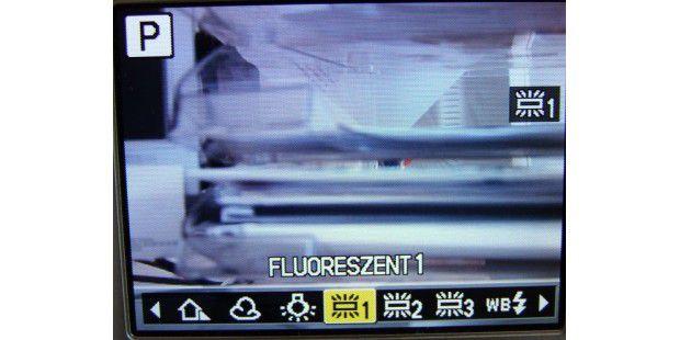 """Weißabgleichs-Option """"Fluoreszent"""""""