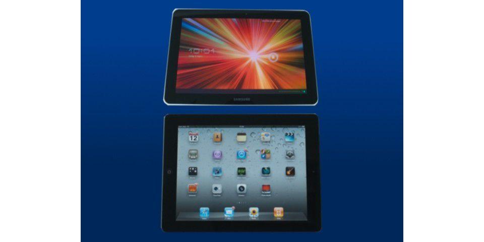 Apple iPad 2 gegen Samsung Galaxy Tab 10.1
