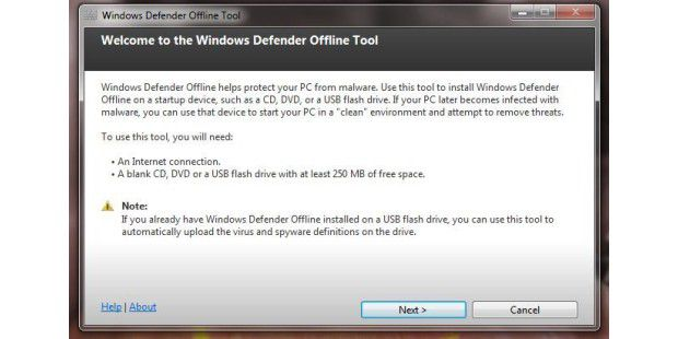 Windows Defender Offline Beta