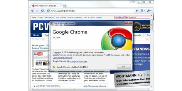 Google Chrome Beta 3.0.195.4