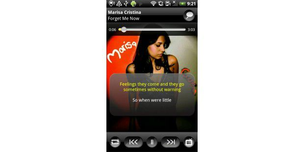 "Android-App ""TuneWiki Social Music Player"""