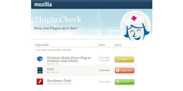 Mozilla Plugin Check