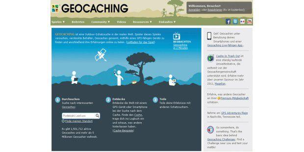 Im größten Geocache-Verzeichnis www.geocaching.com lässtsich weltweit nach Schatzorten suchen. Allein in Deutschland sindderzeit über 200 000 Verstecke hinterlegt.