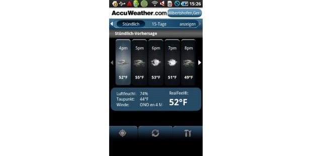 Android-App des Tages: AccuWeather.com