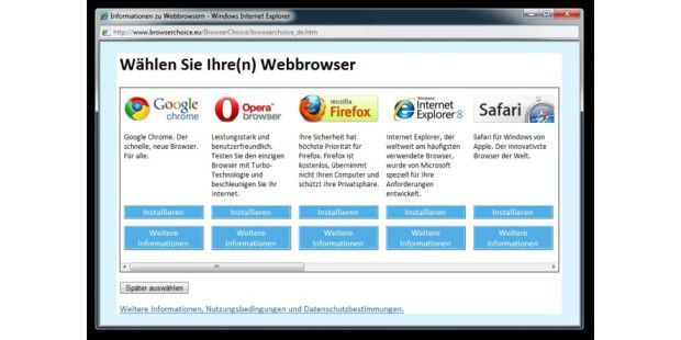 Browser-Auswahl