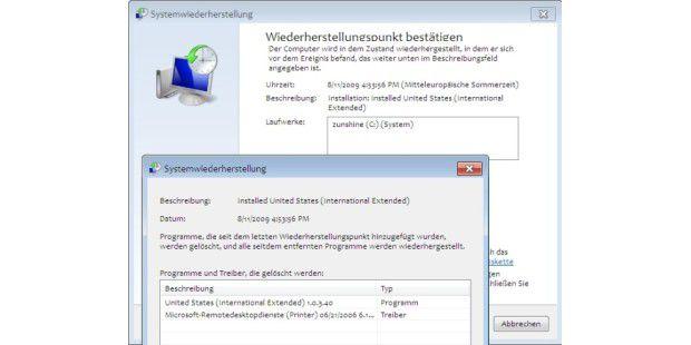 Verbessert: Systemwiederherstellung unter Windows 7