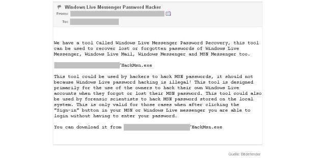 Spam-Mail mit Malware-Link