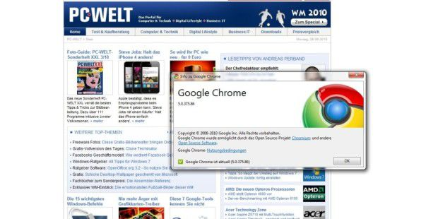 Google Chrome 5.0.375.86