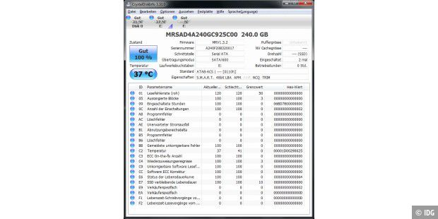 Memoright FTM Plus 240GB: CrystalDiskInfo informiert