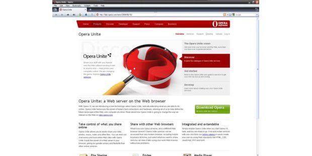 Opera United ist Browser und Server in einem.