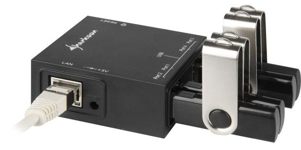 Sharkoon USB LANPort zum Einbinden von USB-Geräten ins LAN
