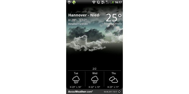 "Android-App ""9s-Weather"""