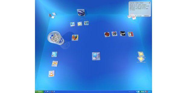 Real Desktop verwandelt Ihren Desktop in eine aufregende 3D-Umgebung.