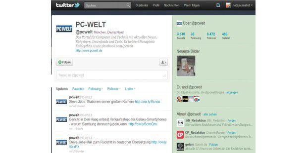 """Klicken Sie auf """"Folgen"""", um ein Twitter-Mitglied IhrerListe hinzuzufügen."""