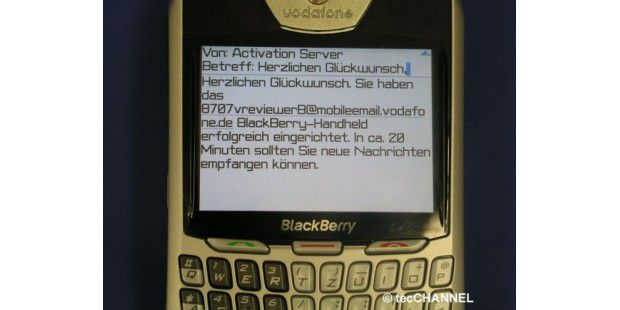 Blackberry 8707 Mail-Empfang