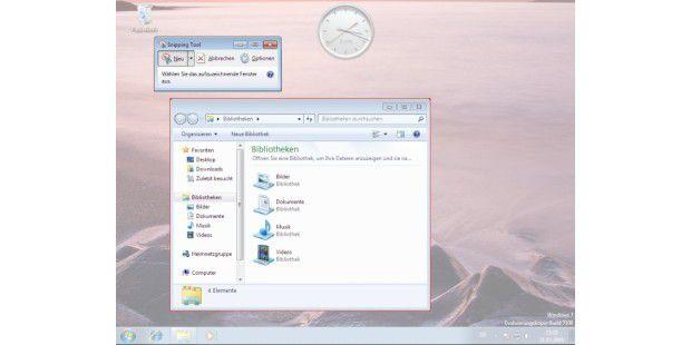 Schnelle Bildschirmfotos mit dem Snipping Tool von Windows 7